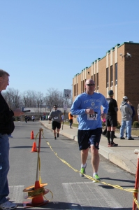 Racer finishing 5K