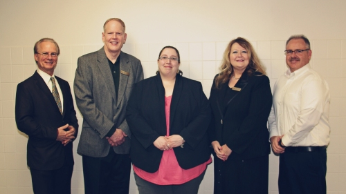 Group Photo (from left to right): Dr. Walter Asonevich, President of Pennsylvania Highlands Community College; Dr. Ted Nichols, Vice President of Academic Affairs and Student Services at Pennsylvania Highlands Community College; Jennifer Parizo, Community Education Specialist at the University of Maine at Fort Kent; Dr. Melissa Murray, Dean of School Partnerships at Pennsylvania Highlands Community College; and Joe Slifko, Accelerated College Education Faculty Coordinator.